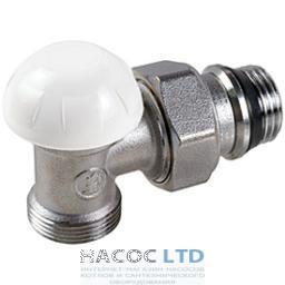 Угловой отсечный клапан, хромированный с винтовыми соединениями, с отводами с герметичной прокладкой GIACOMINI 1/2