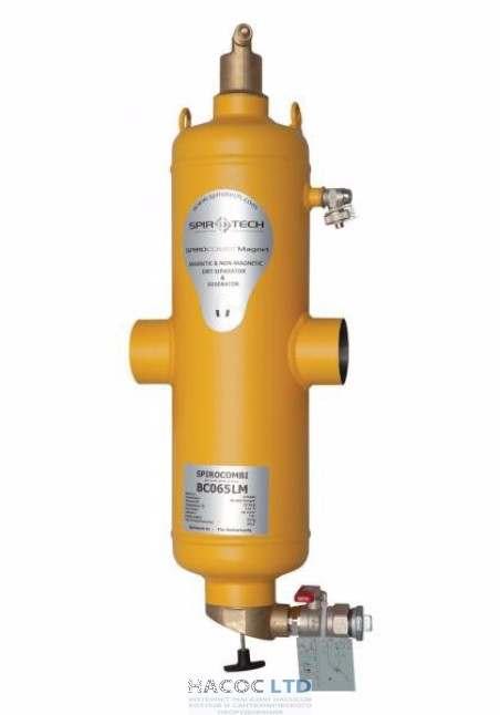 Сепаратор воздуха и шлама с магнитом Spirotech SpiroCombi Air Dirt DN050 под сварку