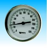 Термометр биметаллический с погружной гильзой Watts Т 63/50