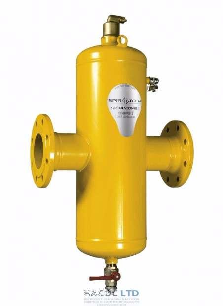 Сепаратор воздуха и шлама Spirotech SpiroCombi Air & Dirt DN100 фланец