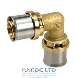 Коленчатый фитинг 90° для труб GIACOTHERM, GIACOFLEX, никелированный GIACOMINI 20Х2