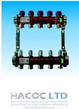 Коллектор для теплых полов с расходомерами Watts HKV/T-4