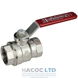 Полнопроходной шаровой клапан, с внутренней резьбой с красной L-рукояткой, хромированный GIACOMINI 1