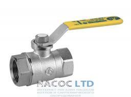 Шаровой клапан со стандартным проходом, с желтой L-рукояткой, хромированный GIACOMINI 4