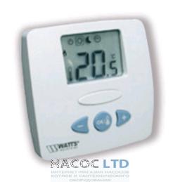 Цифровой комнатный термостат с радиоуправлением Watts WFHT-RF LCD