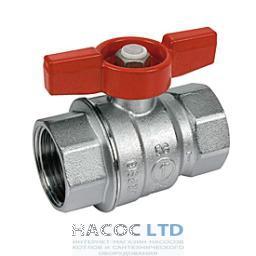 Шаровой клапан со стандартным проходом, с красной Т-образной рукояткой, хромированный GIACOMINI 1