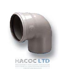 Колено (отвод) 88°, d 110 мм