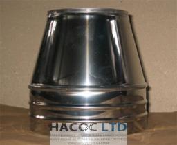 Конус термо теплоизолированный в нержавеющем кожухе (сталь марки 430)