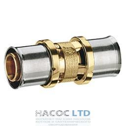 Соединительная муфта для труб GIACOTHERM, GIACOFLEX, никелированная GIACOMINI  20X2