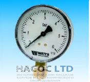 Манометр Watts MDR40 0-6 bar R1/8 (M3B 40mm, хромированный)