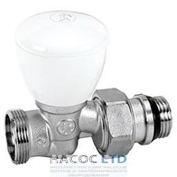 Ручной проходной клапан, хромированный, с отводами с герметичной прокладкой GIACOMINI 1/2