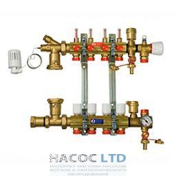 Сборный узел для систем напольного отопления с расходомерами, состоит из 2-R553S, R553V, 2держ.R588L, 557A, 1 Т-обр.фит.1R462L, R557, 608,881,147,252,557 P GIACOMINI 1