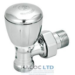 Угловой термостатический клапан хромированный, с блестящей поверхностью, с креплением для переходника GIACOMINI 1/2X16 NO ADAT