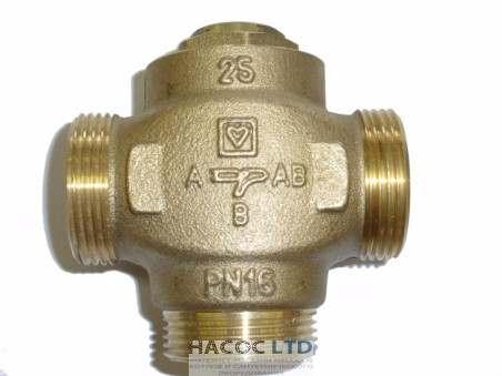 Термостатический смесительный трехходовой клапан HERZ-TEPLOMIX (с отключаемым байпасом)