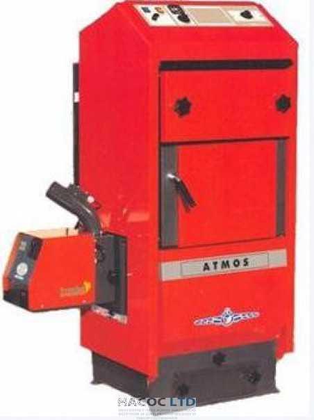Твердотопливный котел ATMOS AC 25 S (с вентилятором и отводом для горелки на пелеты)