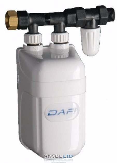Проточный водонагреватель Dafi с линейным присоединителем 7,5 кВт