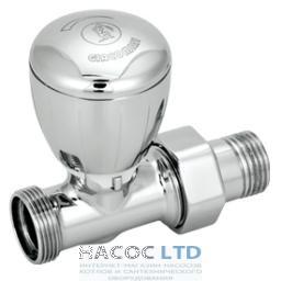 Проходной термостатический клапан хромированный, с блестящей поверхностью, с креплением для переходника GIACOMINI 1/2X16 NO ADAT