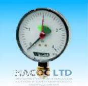Манометр с запорным клапаном 1/2 радиальный Watts MHR 80/4- REM 15