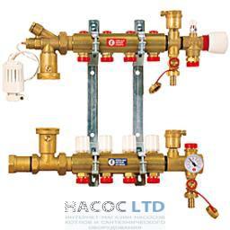 Сборный узел для систем напольного отопления, состоящий из 2-R553S, R553V, 2держ.R588L, 557A, 1 Т-обр.фит.1R462L, R557, 608,881,147,252,557 P GIACOMINI 1
