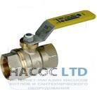 Полнопроходной шаровой клапан с желтой L-образной рукояткой, никелированный GIACOMINI 4