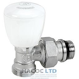 Угловой микрометрический термостатический клапан, хромированный, с отводами с герметичной прокладкой GIACOMINI 1/2