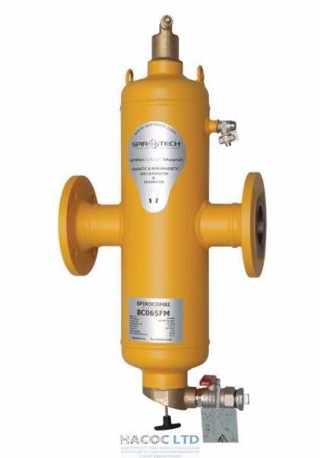 Сепаратор воздуха и шлама с магнитом Spirotech SpiroCombi Air Dirt DN100 фланец