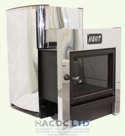 Дровяная печь для бани и сауны с выносом Heat (15м3)