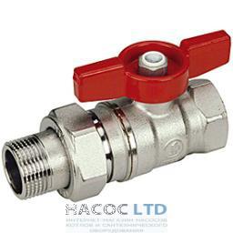 Шаровой клапан со стандартным проходом, с выводом для зонда М10, с внутренней резьбой GIACOMINI 3/4