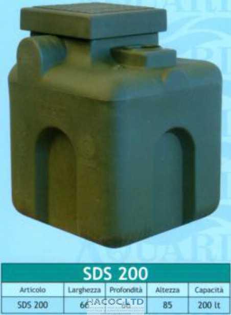 Бак пластиковый канализационный SDS 200