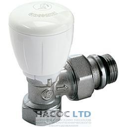 Угловой микрометрический термостатический клапан, хромированный, с винтовыми соединениями, с отводами с герметичной прокладкой GIACOMINI 1/2