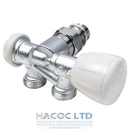 Клапан микрометрический термостатический для однотрубных установок с подводом к радиатору справа, с отводом GIACOMINI 1/2
