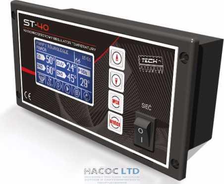 Блок управления пеллетным котлом Tech ST40
