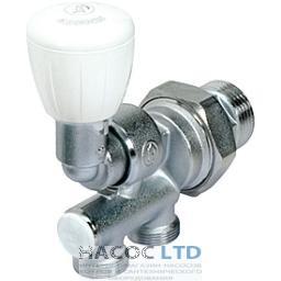 Четырехходовой клапан для одно-и двухтрубных систем с вращающимся на 180 гр. соединением GIACOMINI 1