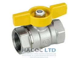 Шаровой клапан со стандартным проходом, с жёлтой Т-образной рукояткой, хромированный GIACOMINI 1/2