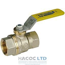 Полнопроходной шаровой клапан с желтой L-образной рукояткой, никелированный GIACOMINI 1