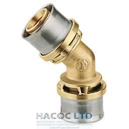 Коленчатый фитинг 45° для труб GIACOTHERM, GIACOFLEX GIACOMINI 26Х3