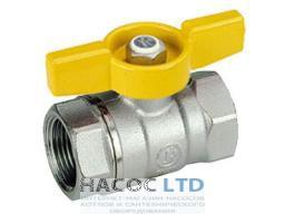 Шаровой клапан со стандартным проходом, с жёлтой Т-образной рукояткой, хромированный GIACOMINI 3/4