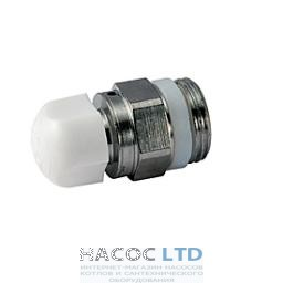 Ручной воздухоотводный клапан для радиатора с регулятором, с герметичной прокладкой, хромированный GIACOMINI 1/4