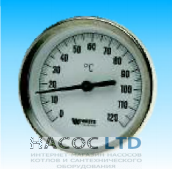 Термометр биметаллический показывающий Watts T 100/150
